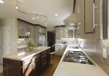 kitchen track lighting ideas | Kitchen Track Lighting Design Ideas, Pictures, Remodel, and Decor