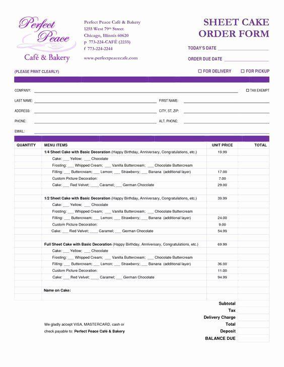 Cake Order Form Templates Elegant Cake Order Form Template Free Google Search Wedding Cake Order Form Cake Order Forms Order Form
