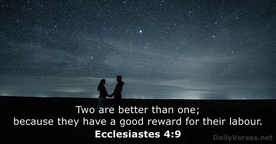 Ecclesiastes 4:9 - DailyVerses.net