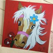 ♥MON CHÈRI♥ rePRINT Pony LOVE Pferd 20x20