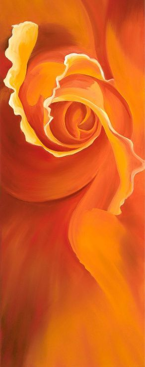 ARTFINDER: Serpentine by Karen Hollis - A rose unfurling to reveal it's innermost self.  I love the way the tightness of the  rosebud gradually unravels to reveal the complex layers of a fully fo...