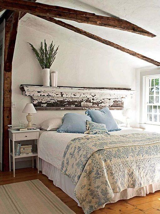 Cabecero de cama con cornisa antiguo: