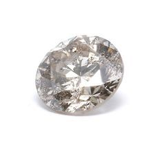 0.37 ct IGI certified natural very light Brown diamond