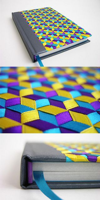 gorgeous hand woven ribbon covered journal - Tridiagonal by Abimael Estrada, via Flickr: