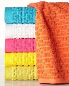 Palm Beach Block Sculpted Bath Towels