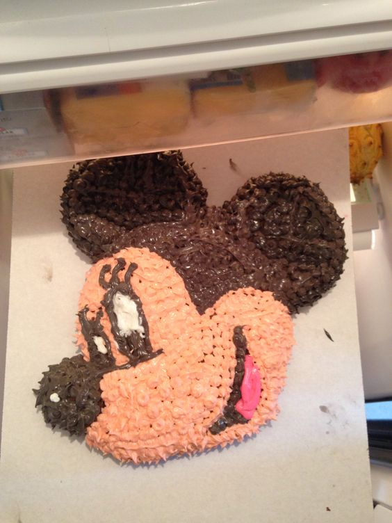Mickey Mouse (Minnie of you add a bow and eye lashes)