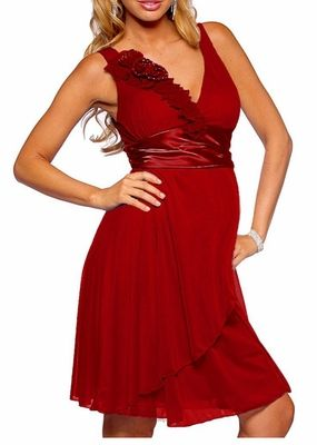 Trendy Mia Maternity Formal and Cocktail Maternity Dress - RED would be perfect for Governor's Xmas Party!