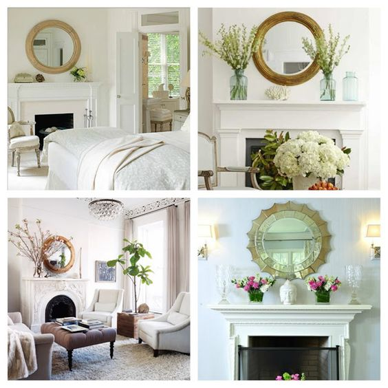 Wall Decoration Above Fireplace : Mirror on the wall fireplace decorating ideas