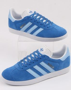 Deber milagro micro  Adidas Gazelle Trainers True Blue/Sky | Adidas gazelle, Adidas, Adidas  shoes originals