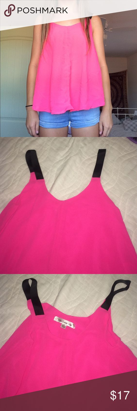 Tank top This is a flowy pink tank top. Super cute is very flattering and sits nicely. Free generation Tops Tank Tops