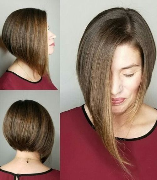 Hot And Trendy Asymmetrical Angled Bob Hairstyles 2018 For Women Hair Styles Womens Hairstyles Angled Bob Hairstyles