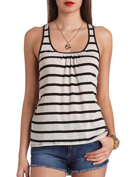 Striped Bow-Topped Tank Top: Charlotte Russe
