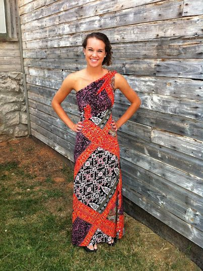 Cowgirl Clad Company - Orange Print Maxi Dress, $72.00 (http://www.cowgirlclad.com/orange-print-maxi-dress/)