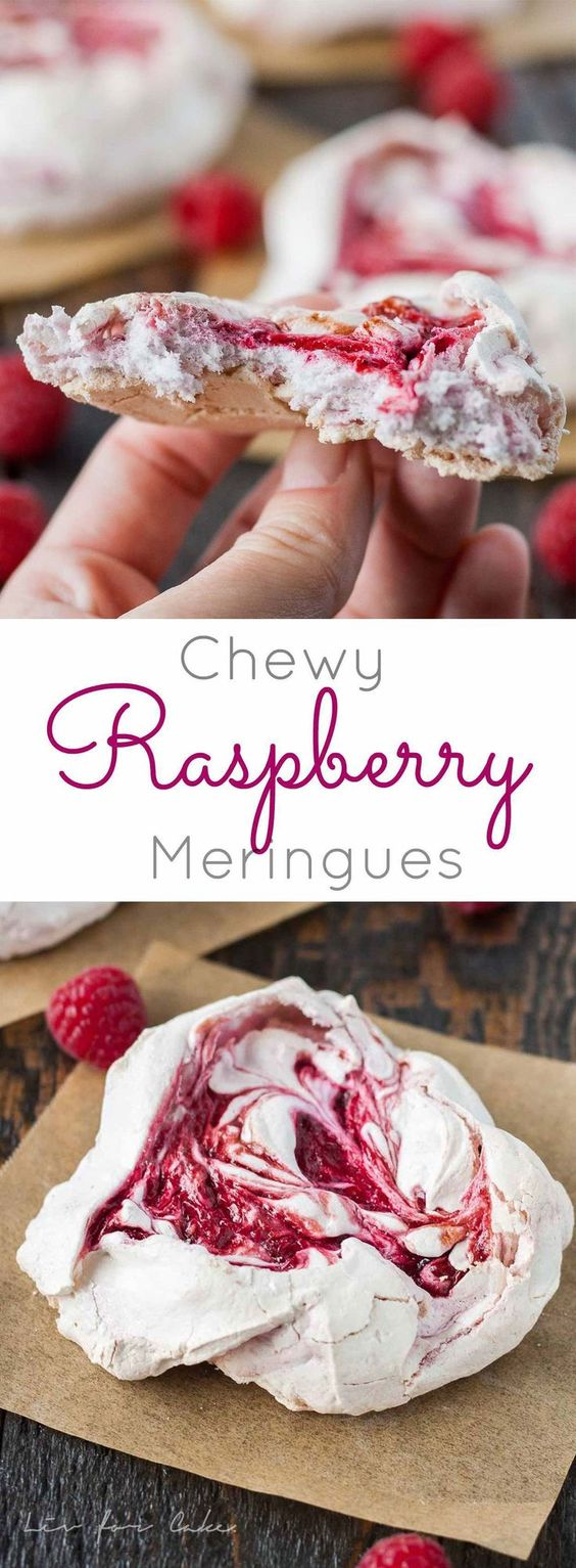 Light and crunchy on the outside, soft and chewy on the inside. These chewy meringues are the perfect sweet treat. | livforcake.com