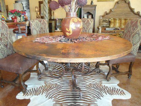 Rustic dining table from mexico cierra interiors for Idea interior cierra