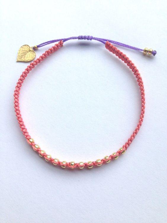 Bracelet de l'amitié perlée Simple et par AdjustableBracelets