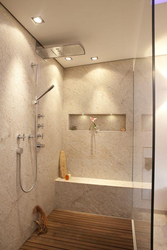 naturstein sitzbank in dusche badezimmer planen design in bonn, Badezimmer