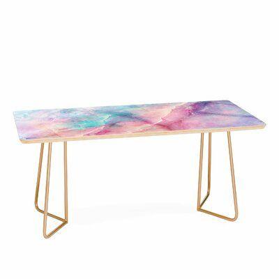 East Urban Home Emanuela Coffee Table Coffee Table Marble Furniture Metal Coffee Table