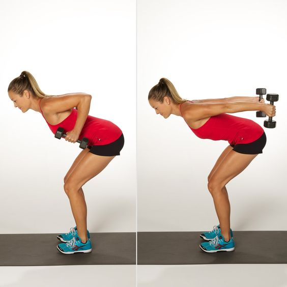 how to Bent-over fly to triceps kickback