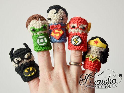 Superheroes Finger Puppets Set Finger Puppets Puppets Crochet Disney