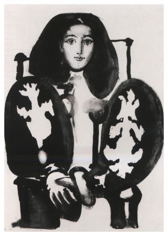 Picasso's 1948 lithograph of his partner, the painter Françoise Gilot