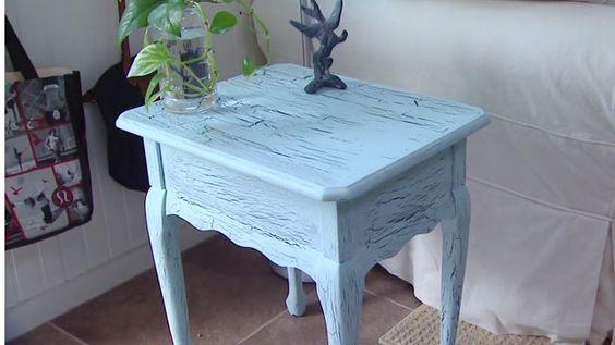 Acabado craquelado para muebles una de las t cnicas - Pintura para muebles de madera ...