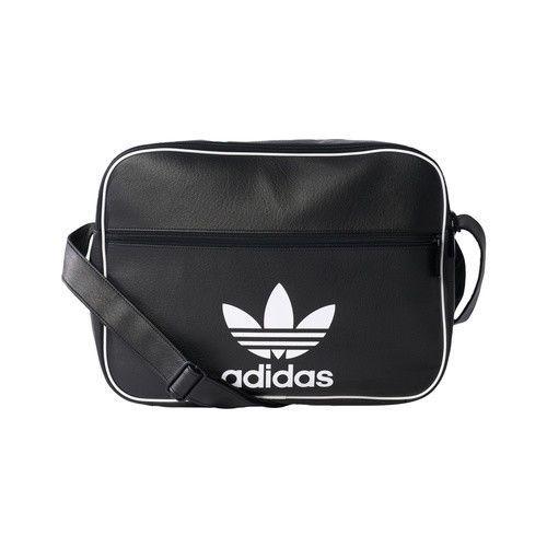 Adidas Originals Airliner Ac Cl Navy Black Shoulder Bag Trefoil Sport Bk2117 Adidas Messengershoulderbag Black Shoulder Bag Bags Shoulder Bag