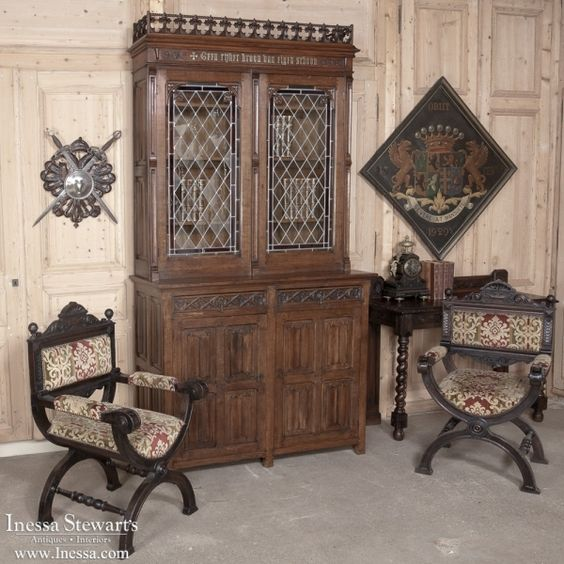 Gothic Antique Style And Architecture Antique Furniture Gothic Bookcase