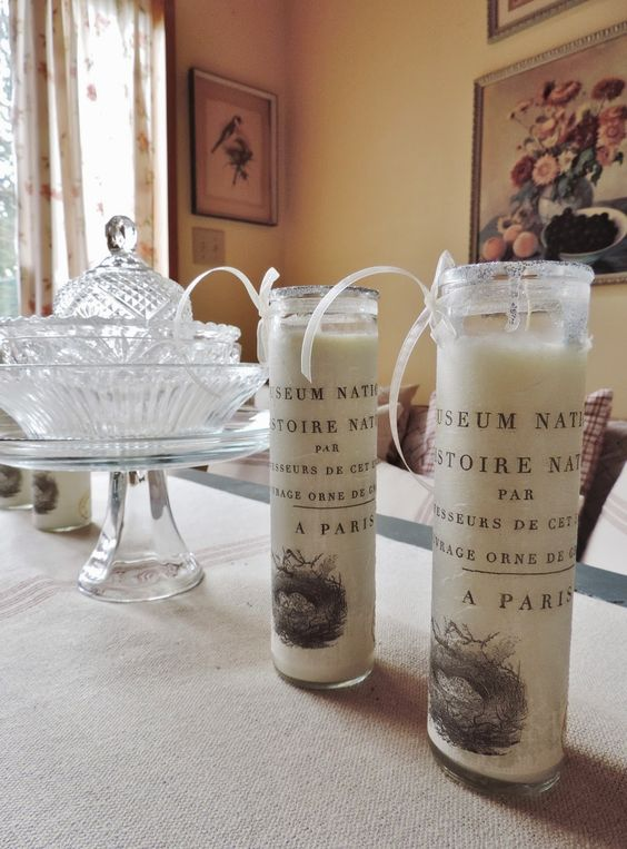 Beatrice Euphemie: Decoupage Candles