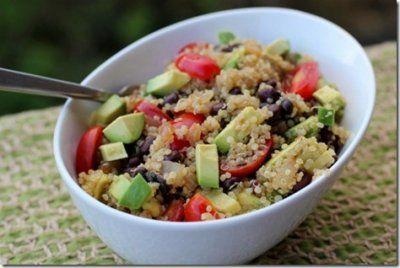 mexican quinoa w/ black beans & avocado