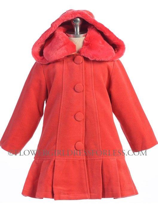 Girls Coat Style 13018- CORAL - Flower Girl Dress For Less