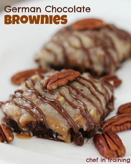 German Chocolate Brownies!!