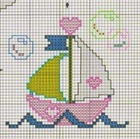 **Blog Amor Perfeito** Gráficos de ponto cruz: Barcos