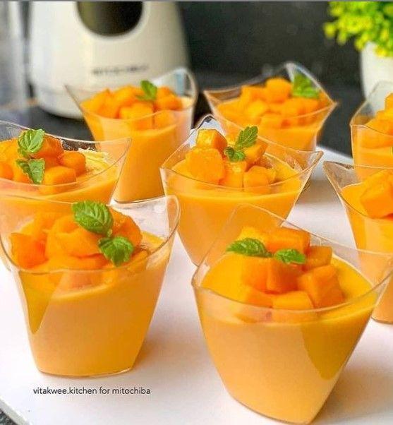 Pudding Mangga Sutra Puding Mangga Resep Puding