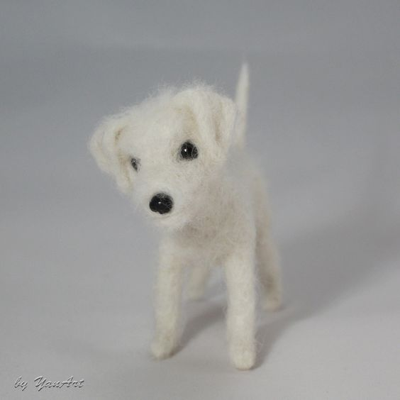 Custom Realistic Needle Felted Dog / Pet Portrait Sculpture