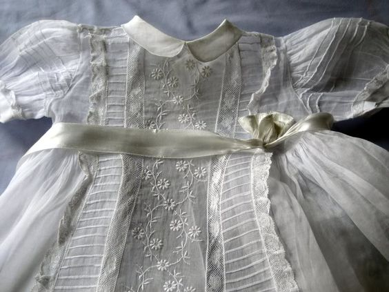 Christning gown sold by chatelaine-chic
