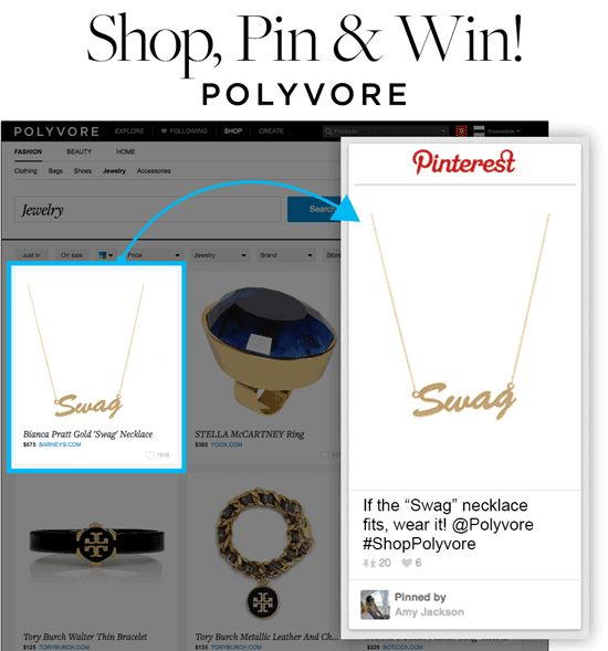 """Show us what you love and you could win a $100 Polyvore gift card! How, you ask?  1. Explore and browse our shop page 2. Pin your very favorite item, like we did here, completing the sentence, """"If the ___ fits, wear it!"""" 3. Follow and tag @Polyvore & #ShopPolyvore!   All eligible pins tagged #ShopPolyvore will be repinned to our own """"If the ___ fits, wear it!"""" board. There will be 5 winners. You may """"enter"""" pins until 12/20 at 5PM PST! Get pinning!"""