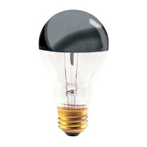 Bulbrite 60A19HM Half Chrome 60W A Shape Bulb