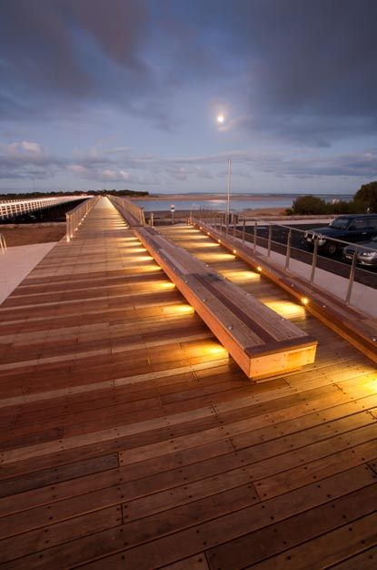 Barwon Heads Pedestrian Bridge designed by Peter Elliott Architecture