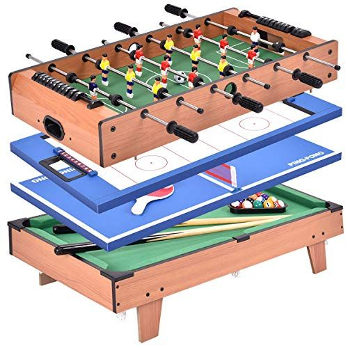 6 In 1 Combo Game Table Pool Air Hockey Ping Pong Roulette Poker Dining In Black Sala De Juegos Sala Billares