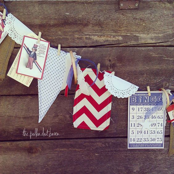 fourth of july banner by thepolkadotbarn on Etsy, $24.99