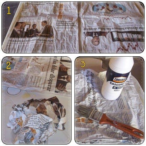 Aprenda a fazer quadro usando jornal | Artesanato na Prática