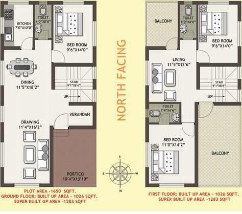 Vastu House Plan North Facing Plot Vastu House Indian House Plans House Plans