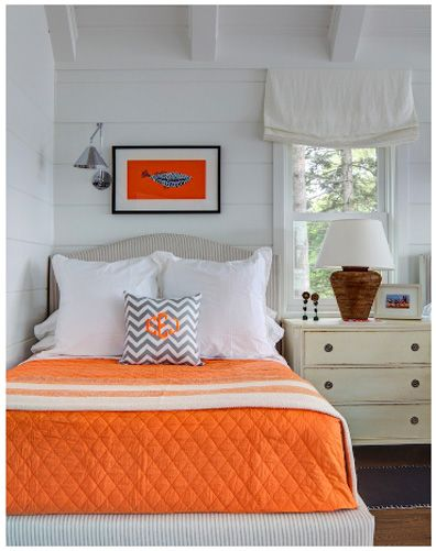 orange and white Perfect for a little boys room