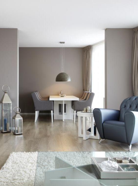 Kleur muur home pinterest - Idee kleur living ...
