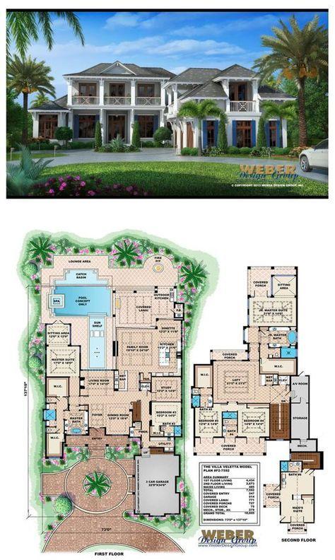 Beach House Plan Caribbean Island Mansion Home Floor Plan Beach House Plans Beach House Flooring Beach House Floor Plans