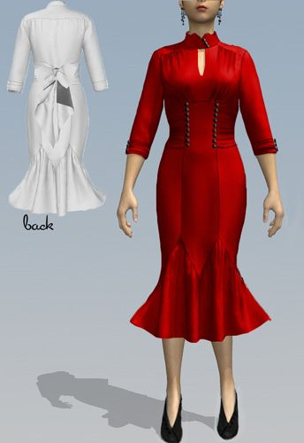 1940s Inspired Wiggle Dress  by Amber Middaugh 2015