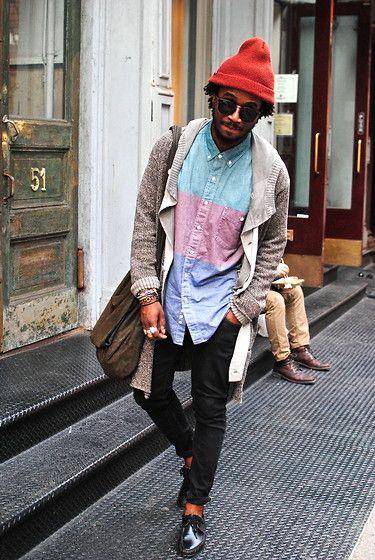 18. Menswear: An diesem lässigen Outfit für Männer lieben wir das Hemd in Kombination mit der Mütze. #BeardHype