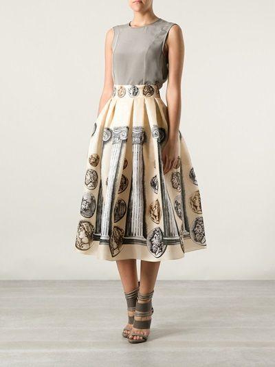 Dolce & Gabbana - Saia pêssego estampada 7