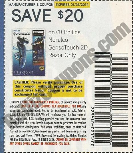 Philips norelco coupon